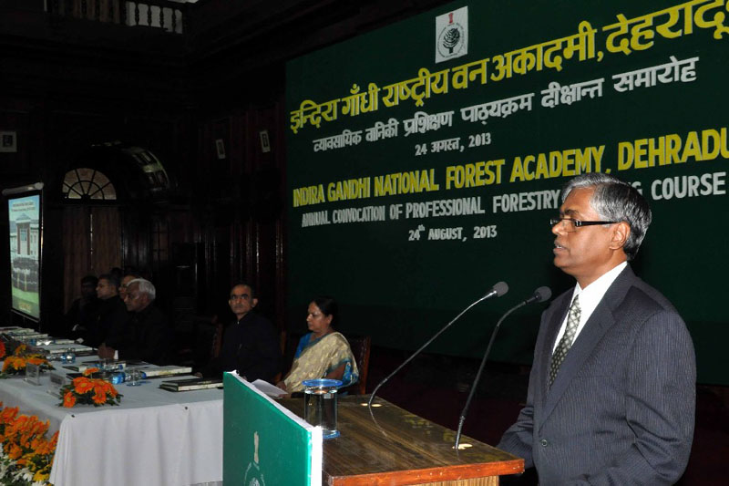 Annual Convocation of the Indira Gandhi National Forest Academy was organized on 24th August 2013.